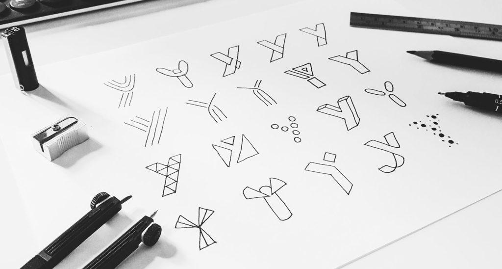 dbworkplay logo sketches 1024x548 - Logo Design
