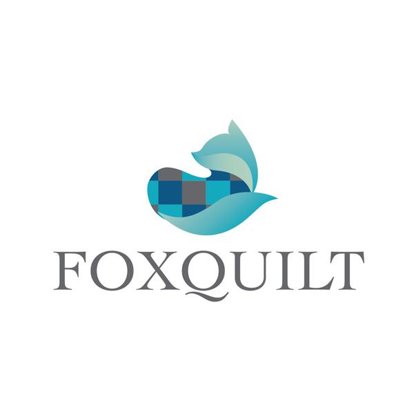 fox quilt logo - Logo Design