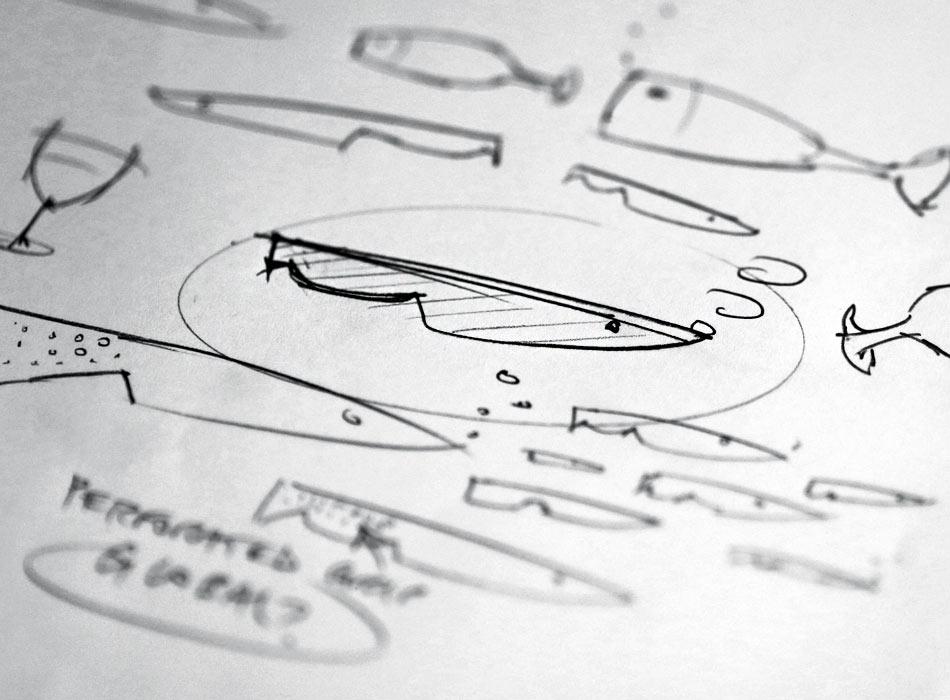 longsands fish kitchen logo sketches 01 - Logo Design