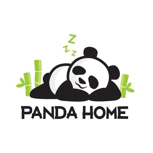 panda home logo - Logo Design
